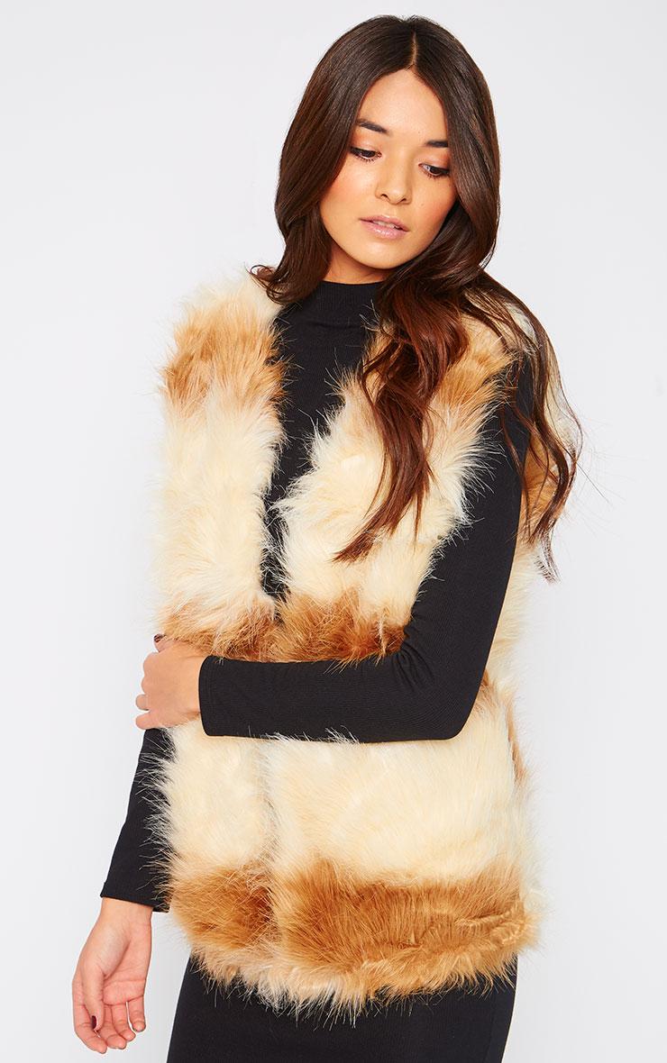 Reilly Two Tone Fur Waistcoat  4