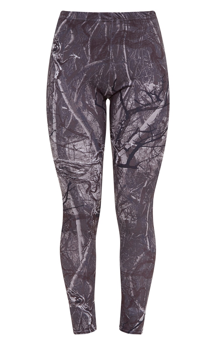 Grey Forest Print Camo Leggings 3