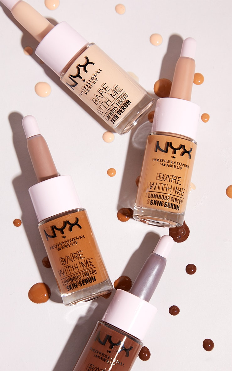 NYX PMU Bare With Me Luminous Tinted Skin Serum Light Medium 3