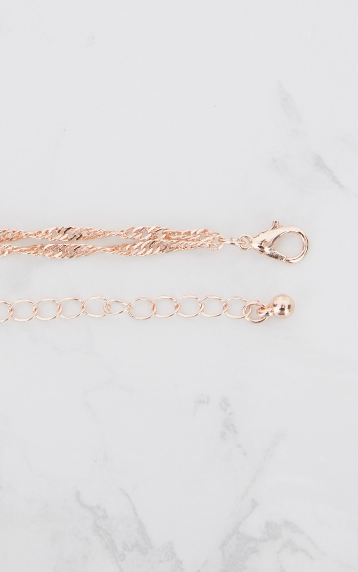 Rose Gold Renaissance Double Layer Cross and Pendant Necklace 5