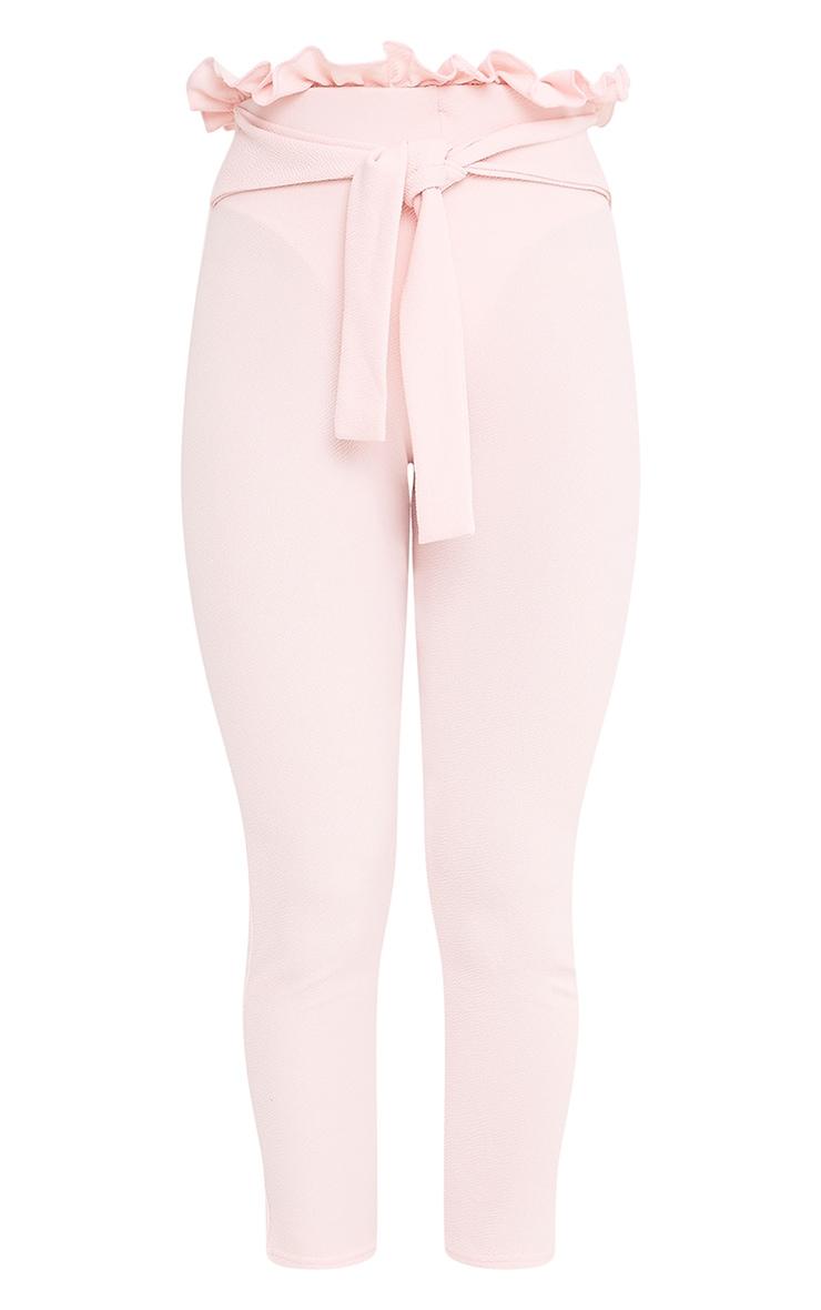 Perlita Pink Paperbag Skinny Trousers 3