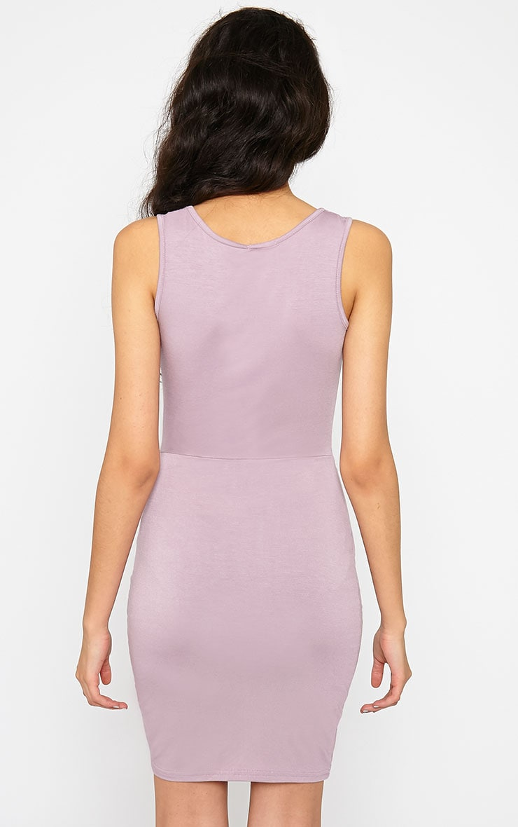 Izabella Mauve Twist Front Dress 2