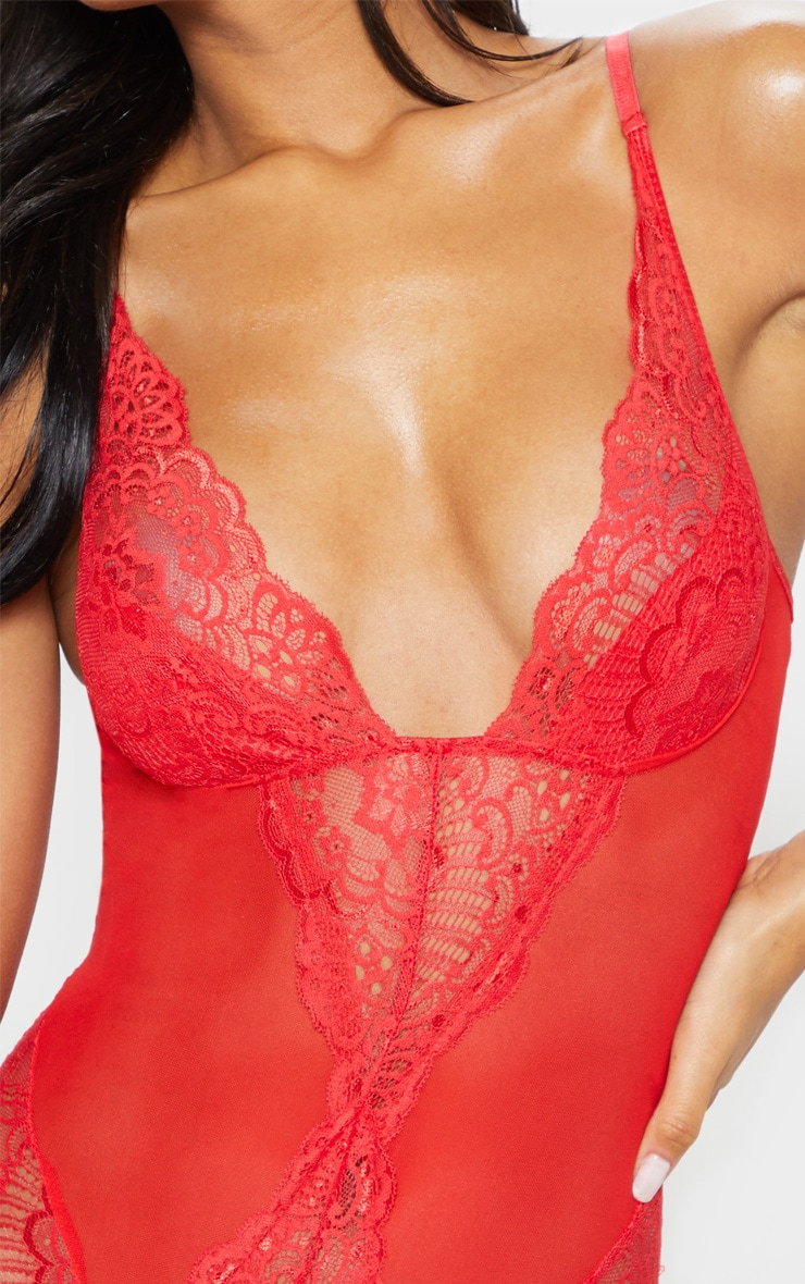 Red Scallop Lace Body 6