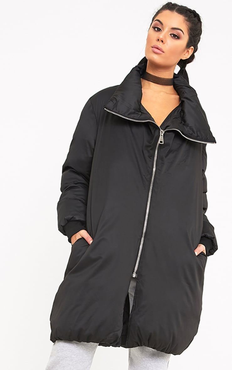 Rananna Black Oversized  Jacket 1