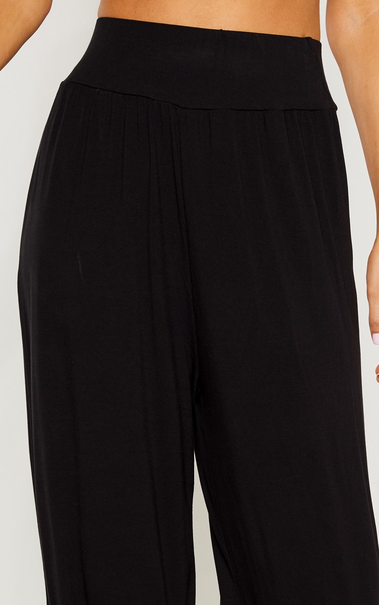 Tall Black High Waist Wide Leg Pants 5