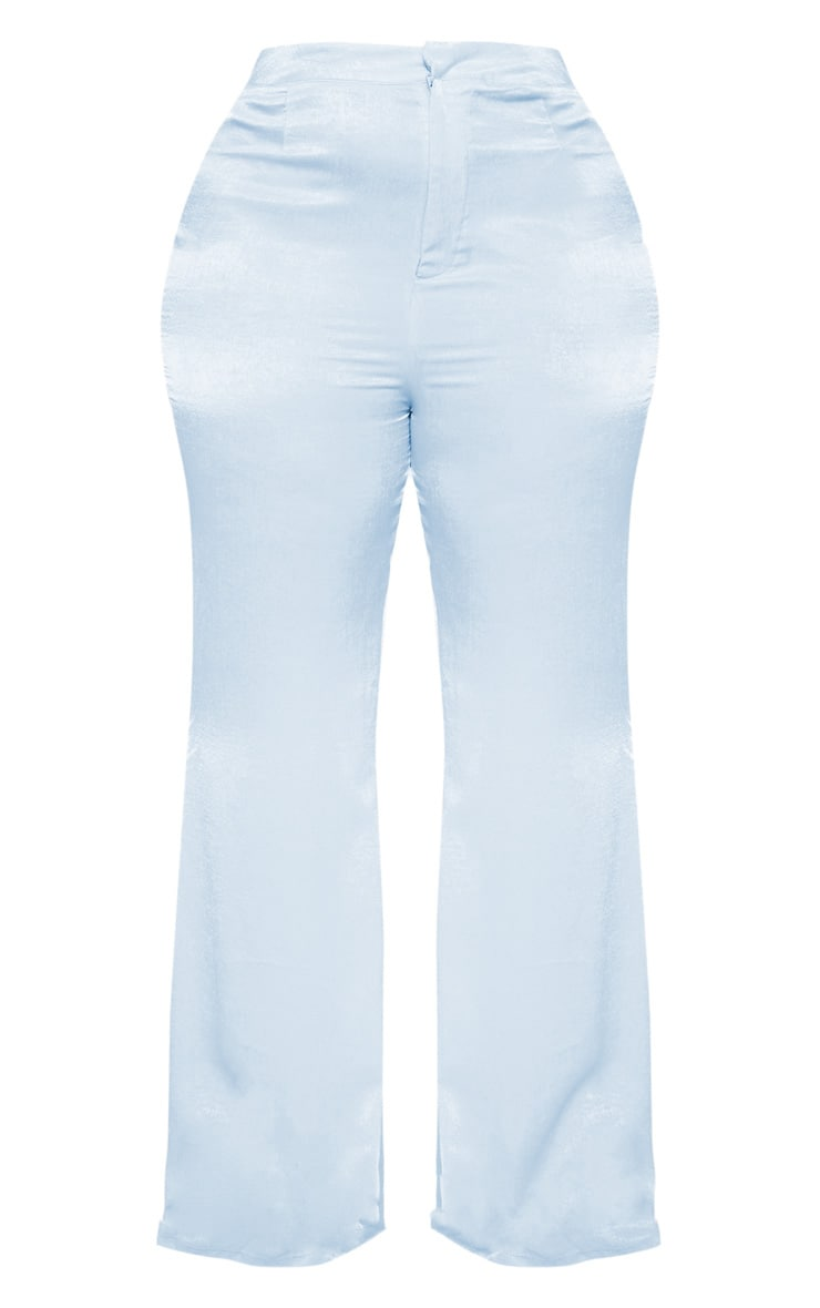 Plus Dusty Blue Tailored Extreme Flared Pants 3