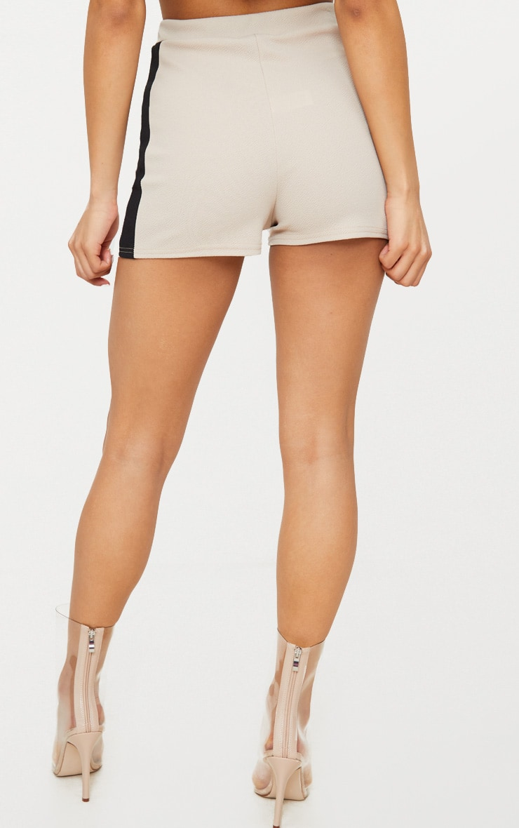 Stone Crepe High Waisted Side Stripe Short 4