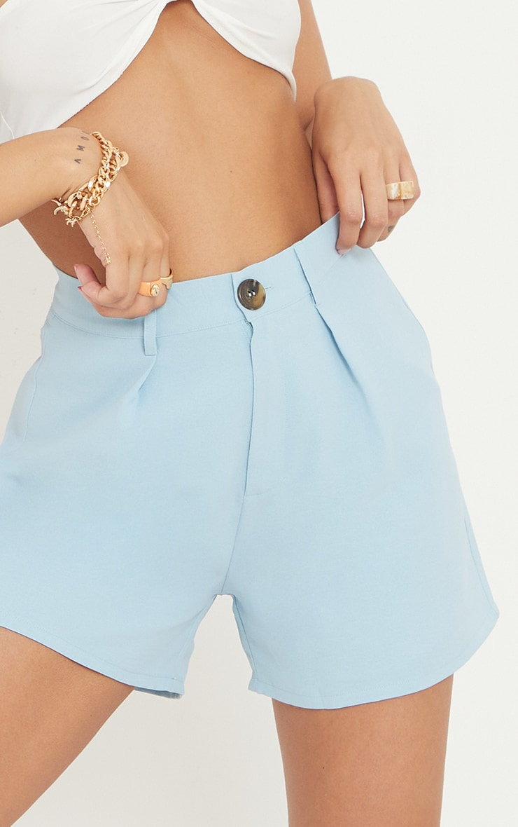 Blue Tailored City Shorts 5