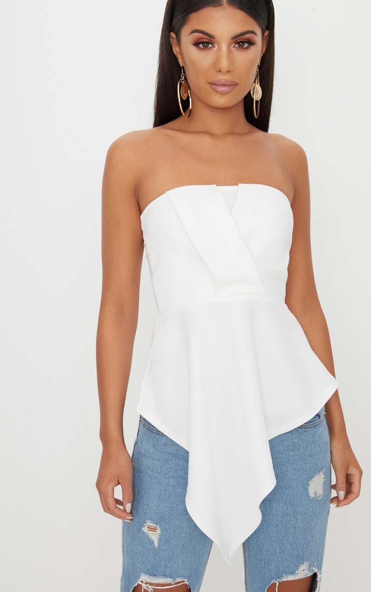 White Origami Bandeau Top  1