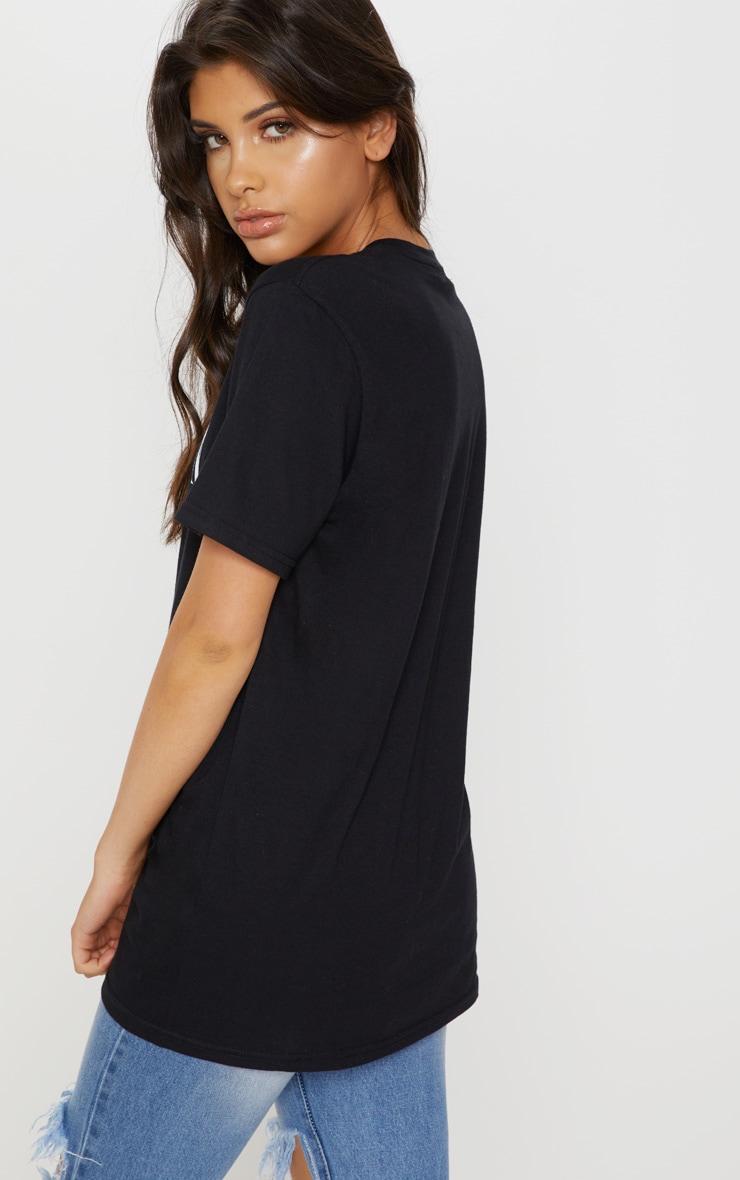 Black Milan Slogan Oversized T Shirt 2