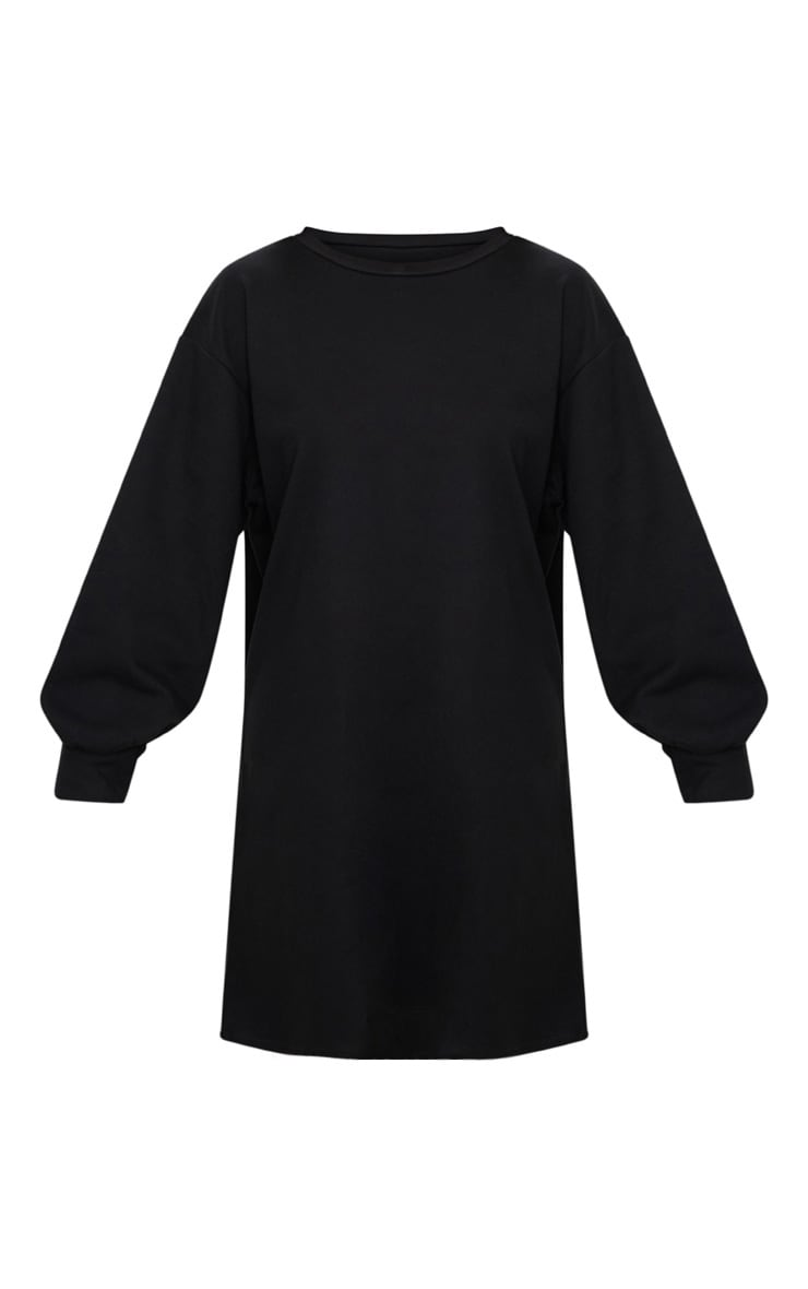 Black Oversized Sweater Dress 4