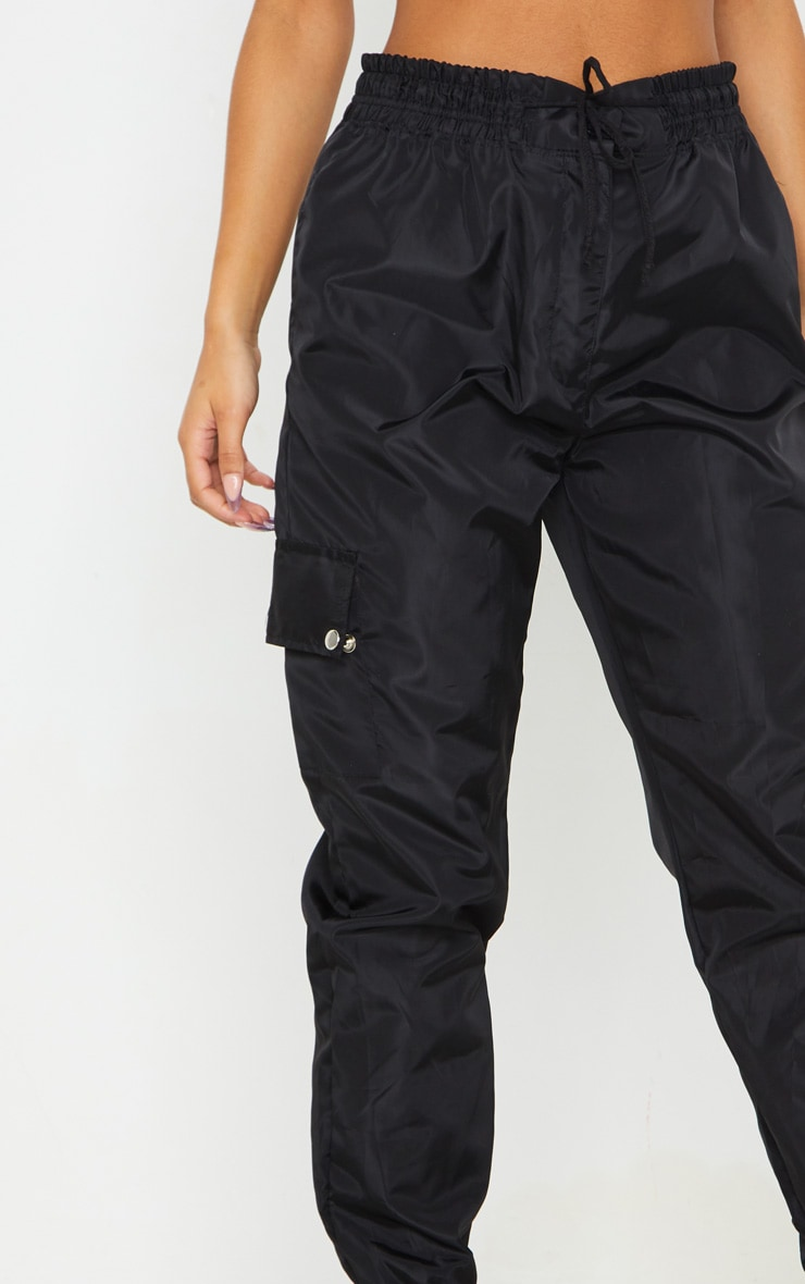 Black Shell Pocket Detail Cargo Trouser 4