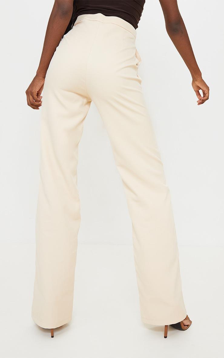 Tall Ecru Asymmetric Dad Pants 3