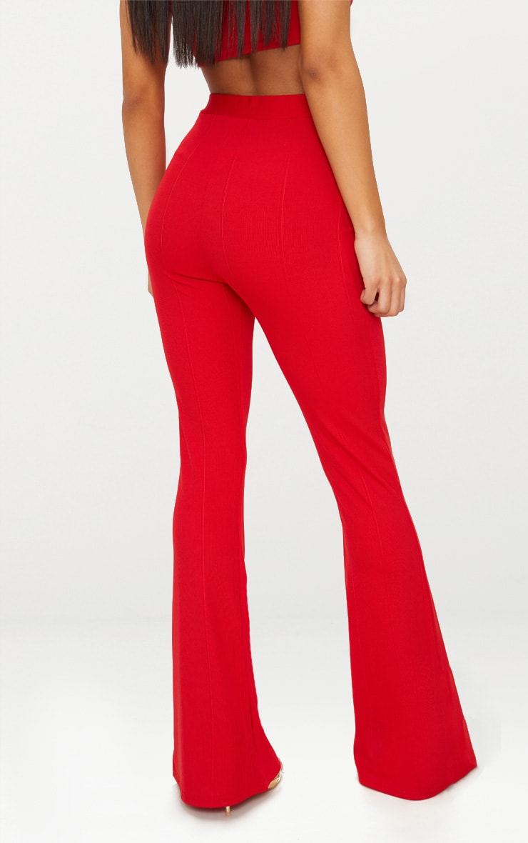 Red Bandage Flared Trouser 4