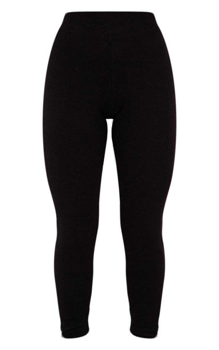 Black Soft Knit Joggers 5