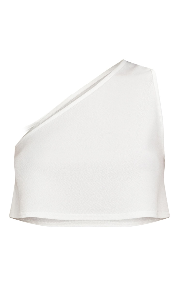 White One Shoulder  Crop Top 3