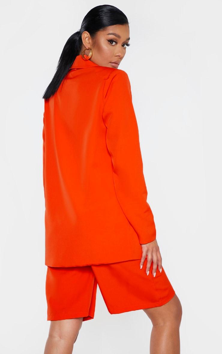 Bright Orange Woven Blazer 2