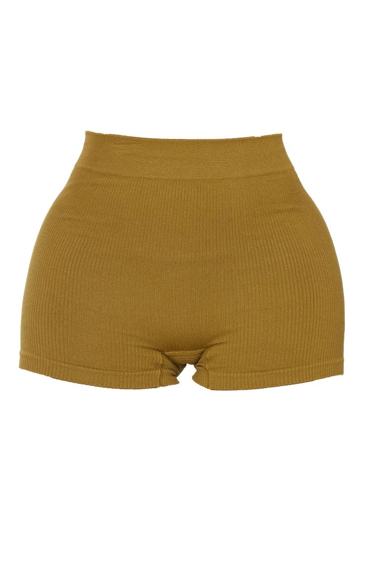 Shape Olive Contour Rib Shorts 6