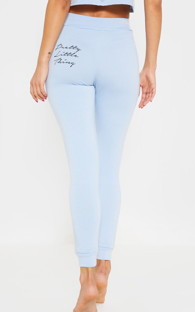 PRETTYLITTLETHING Baby Blue Slim Lounge Jogger 4