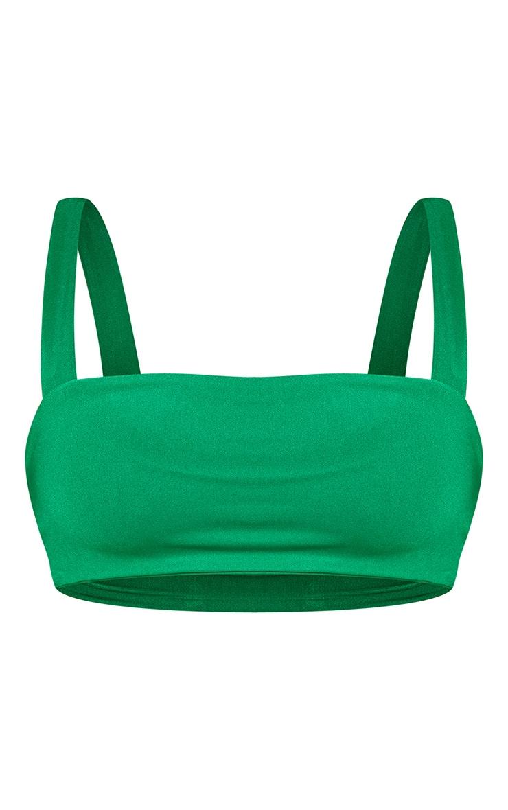 Green Square Neck Bikini Top 3