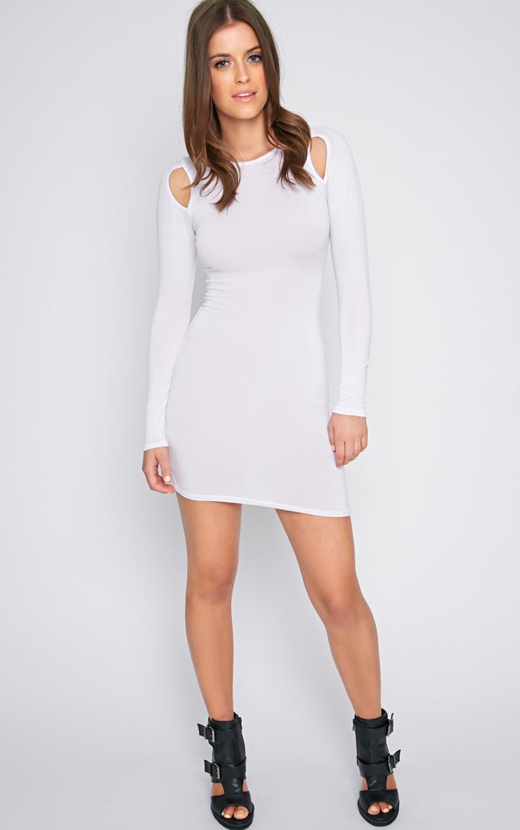 Lexis White Cut Out Mini Dress  3