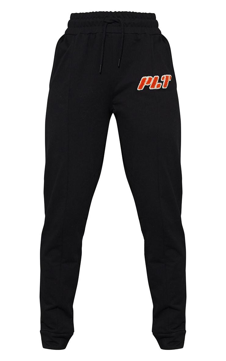 PRETTYLITTLETHING - Jogging skinny noir à logo en éponge 5