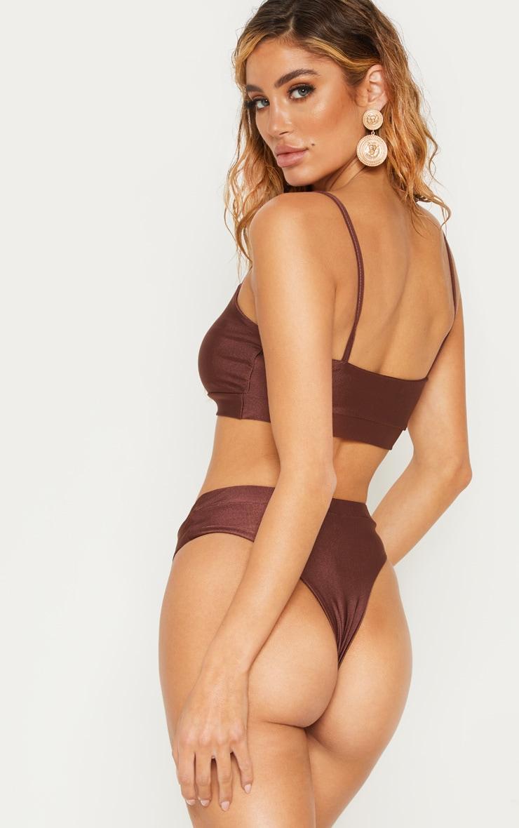 Chocolate V-Wire Bikini Top 2