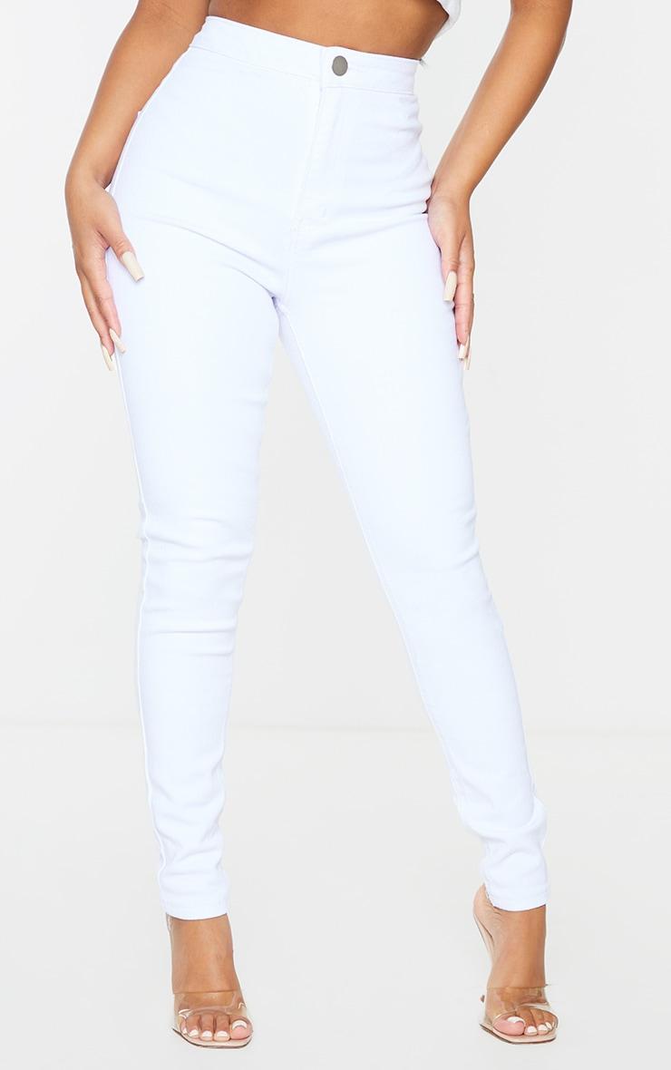 Petite White High Rise Skinny Jeans  2