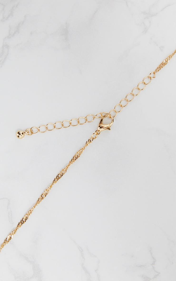 Gold Pendant Drop Necklace 4