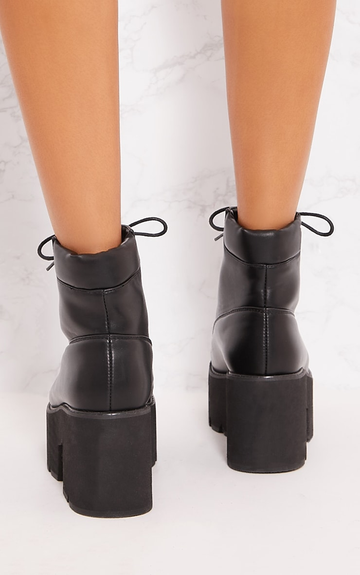 Black Chunky Festival Boot 3