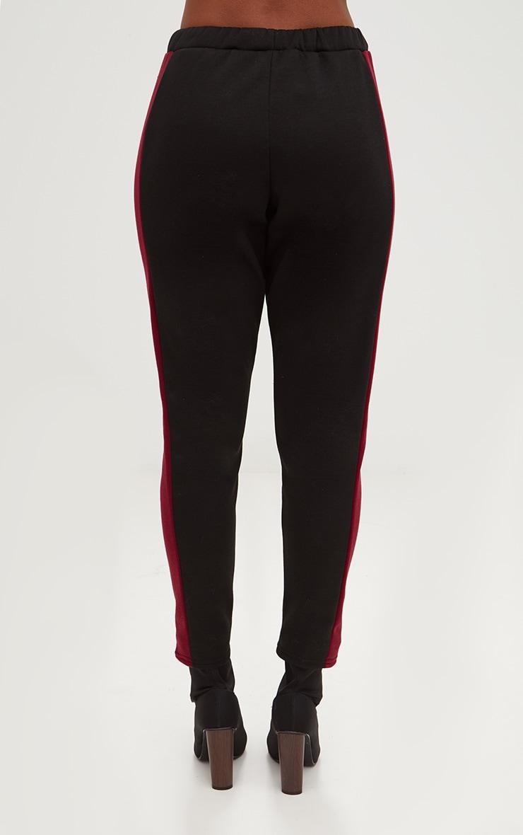 Black Contrast Side Stripe Joggers 4