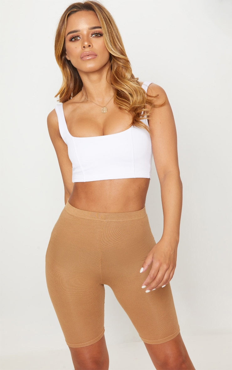 Petite Camel Basic Bike Shorts 1