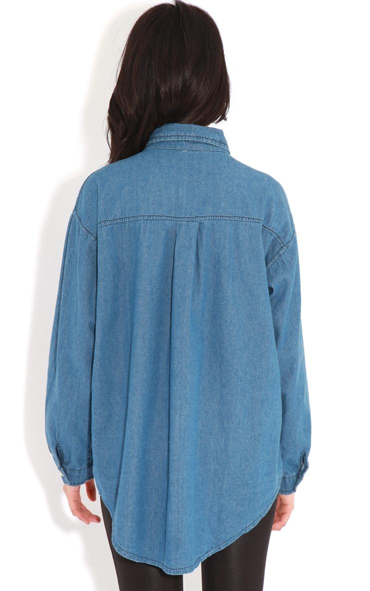 Renee Blue Denim Tassel Shirt 2