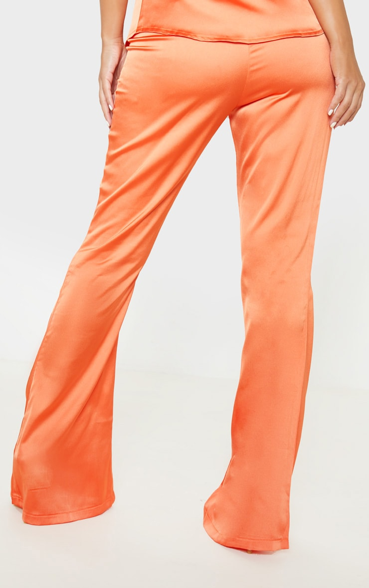 Petite Peach Satin Wide Leg Pants  4