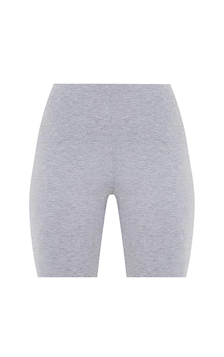 Basic Grey Cotton Blend Bike Shorts 6