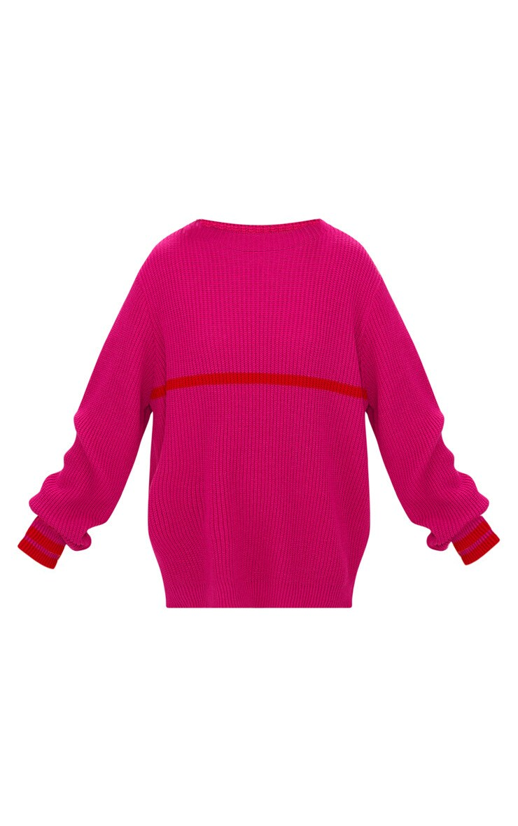 Pink Stripe Detail Jumper 3