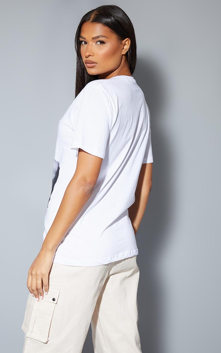 White Tupac Chains Oversized T-Shirt 2