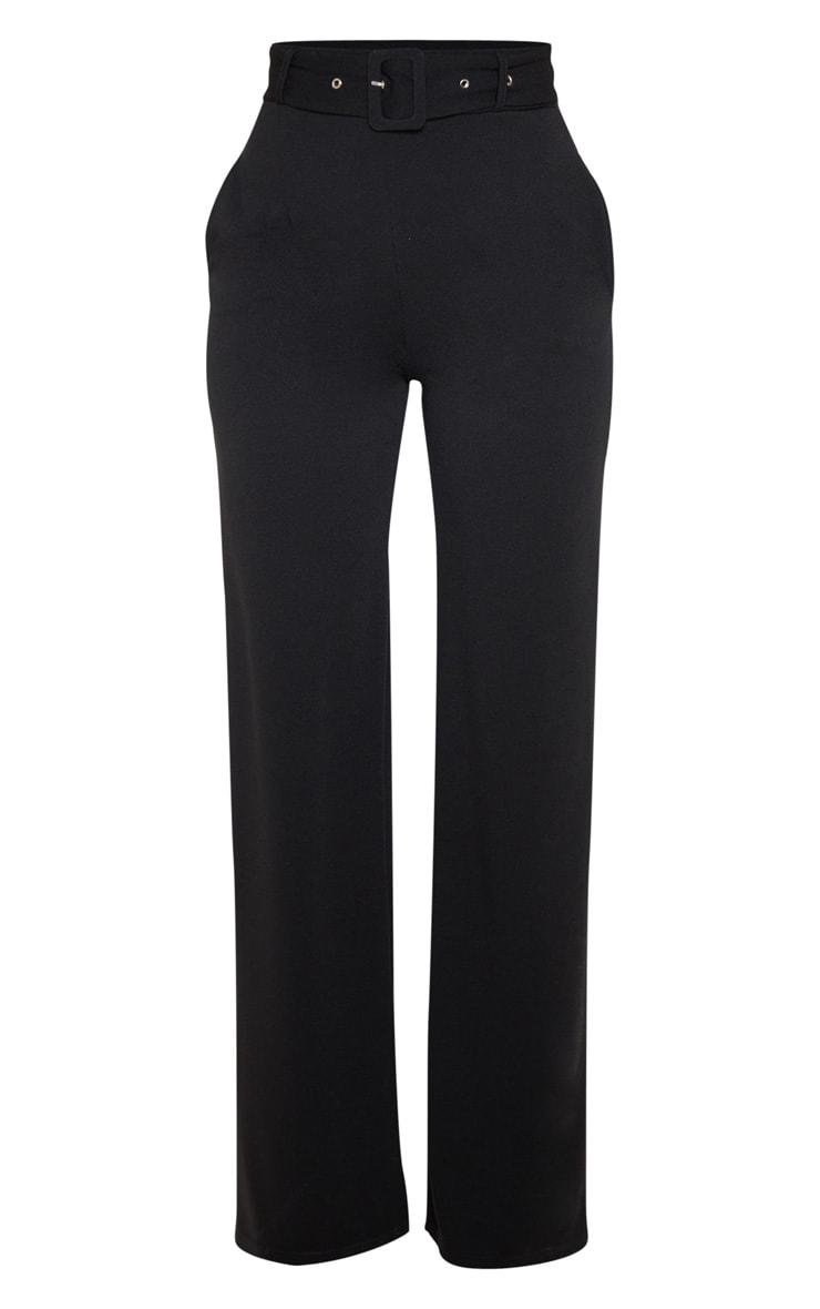 Black Belted Wide Leg Pants 3