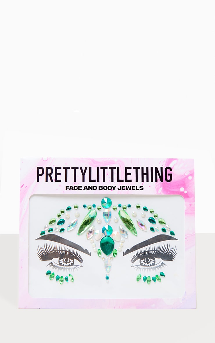 PRETTYLITTLETHING Evergeen Dream Face Jewels 1