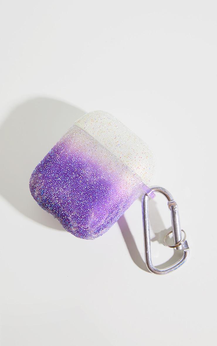 Purple Glitter Airpod Case 2