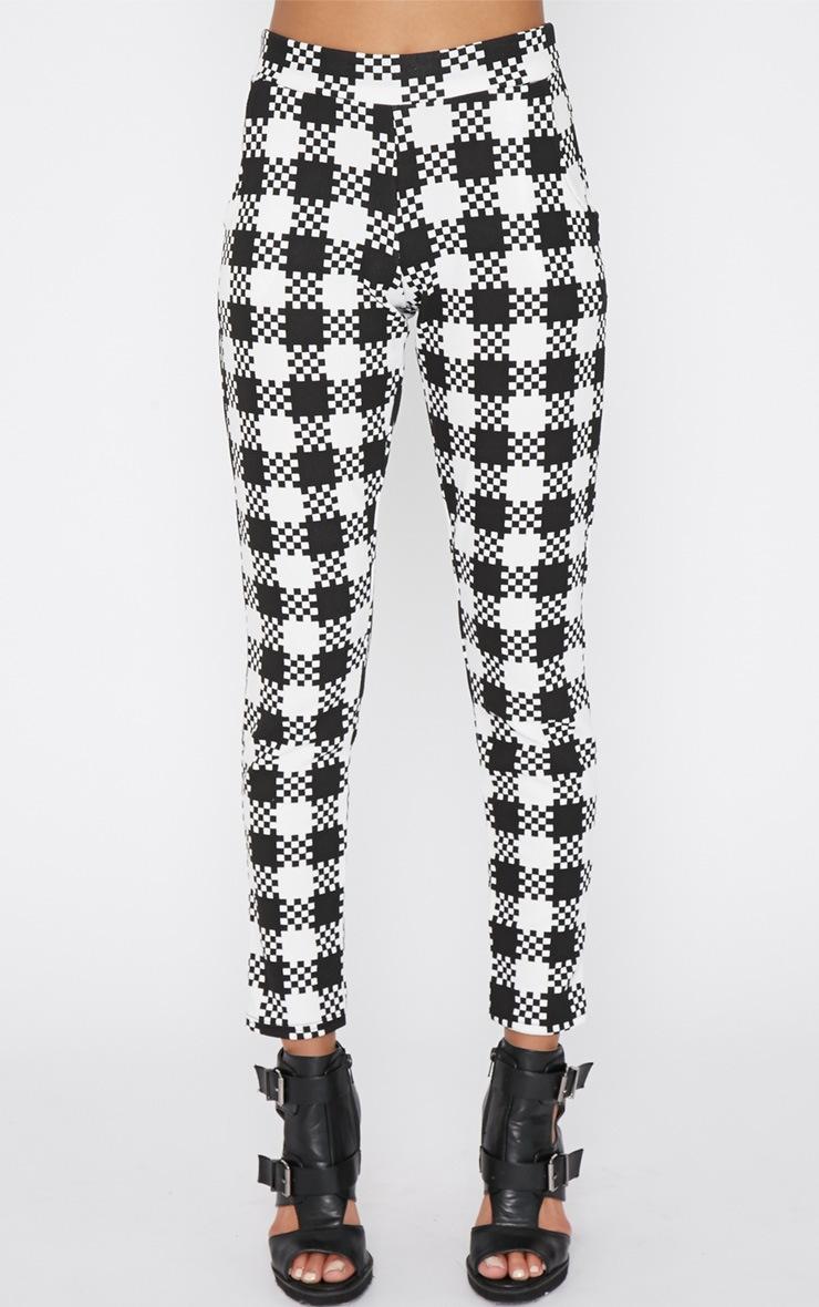 Shiri Monochrome Dogtooth Trouser 2