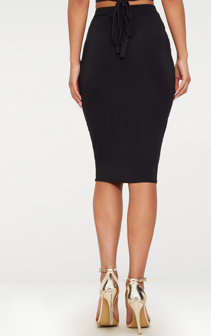 Black Slinky Midi Skirt 4