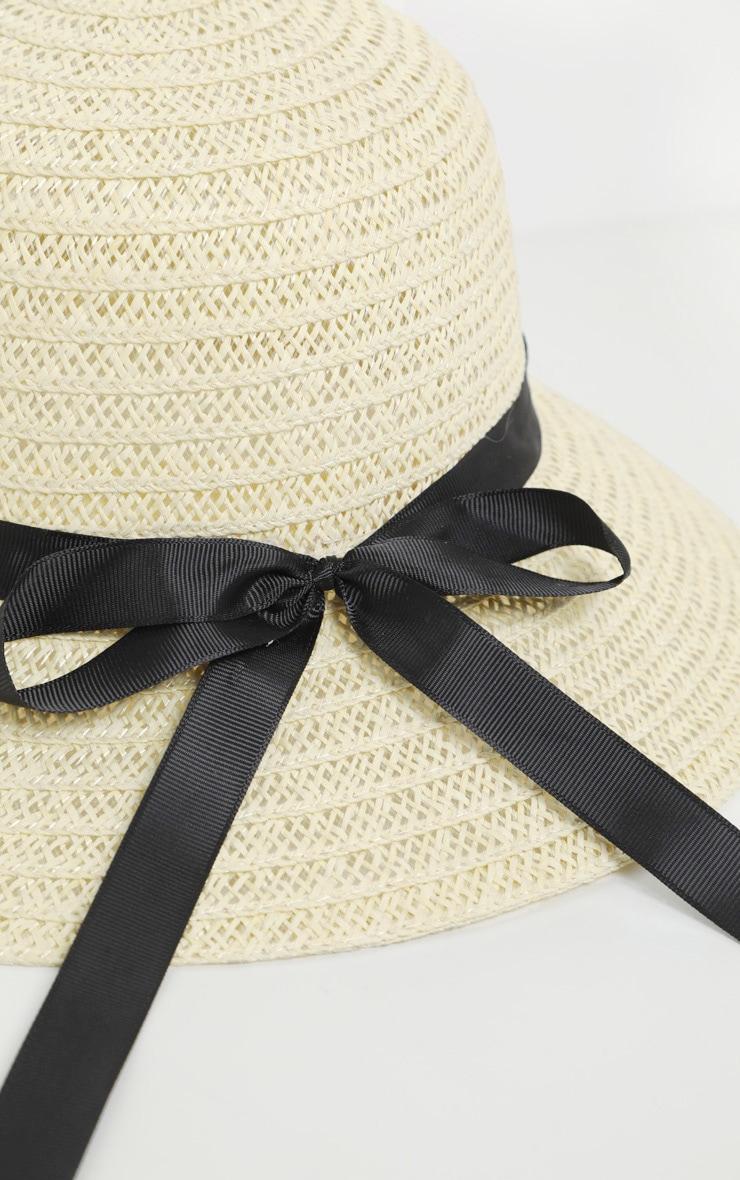 Cream Straw Sun Hat 4