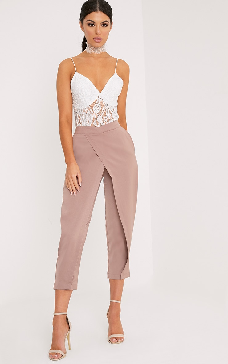 Rachel Blush Cross Front Trousers 1