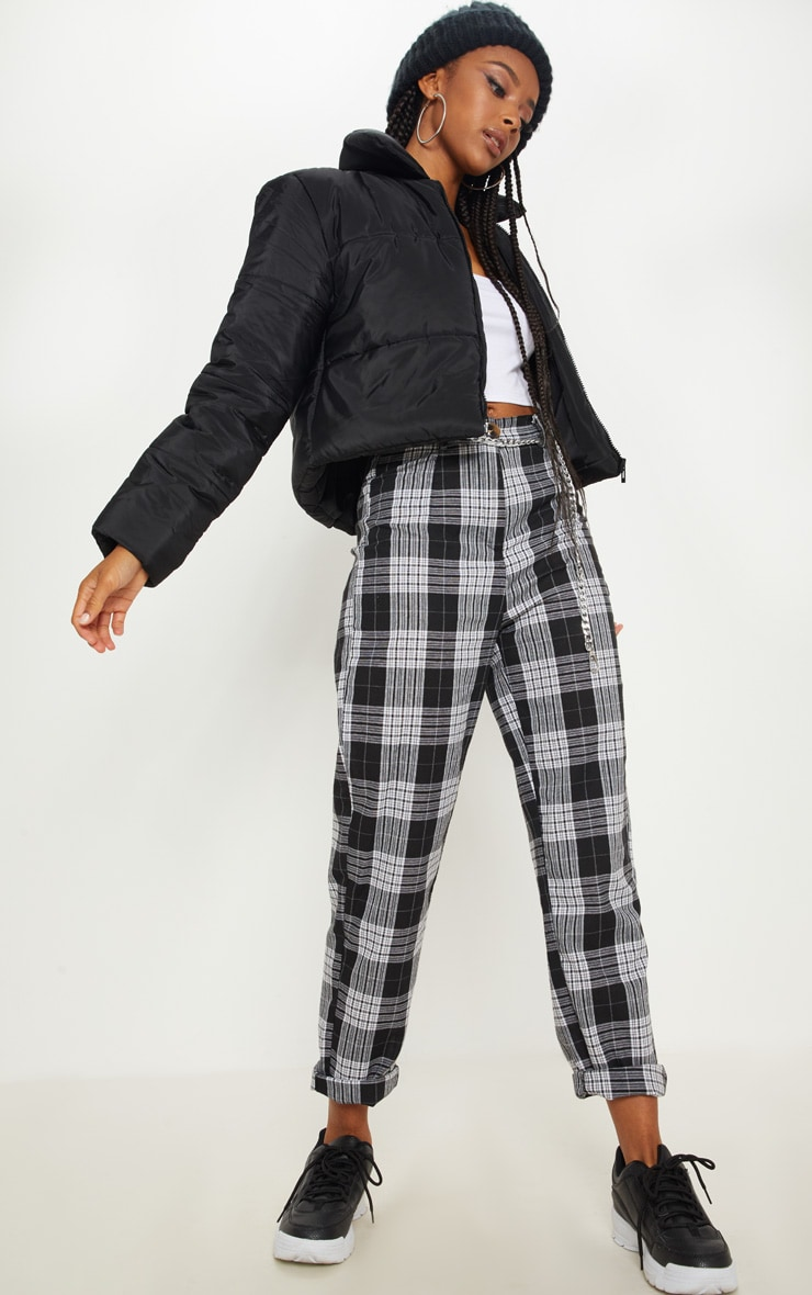 Black Puffer Cropped Jacket 4