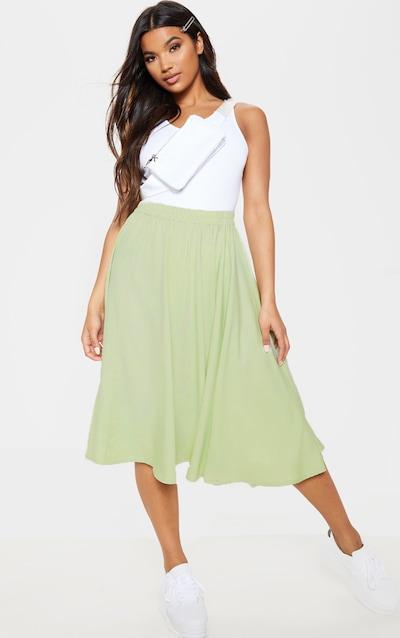 d033e6536e1 Sage Green Floaty Midi Skirt