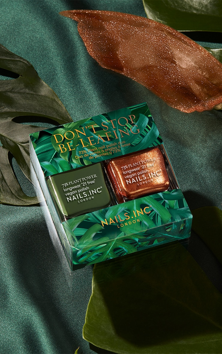 Nails Inc Don't Stop Be-Leafing Duo 2