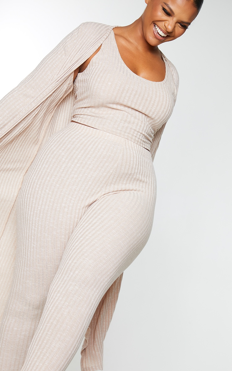 Plus Oatmeal Knitted 3 Piece Legging Set 4