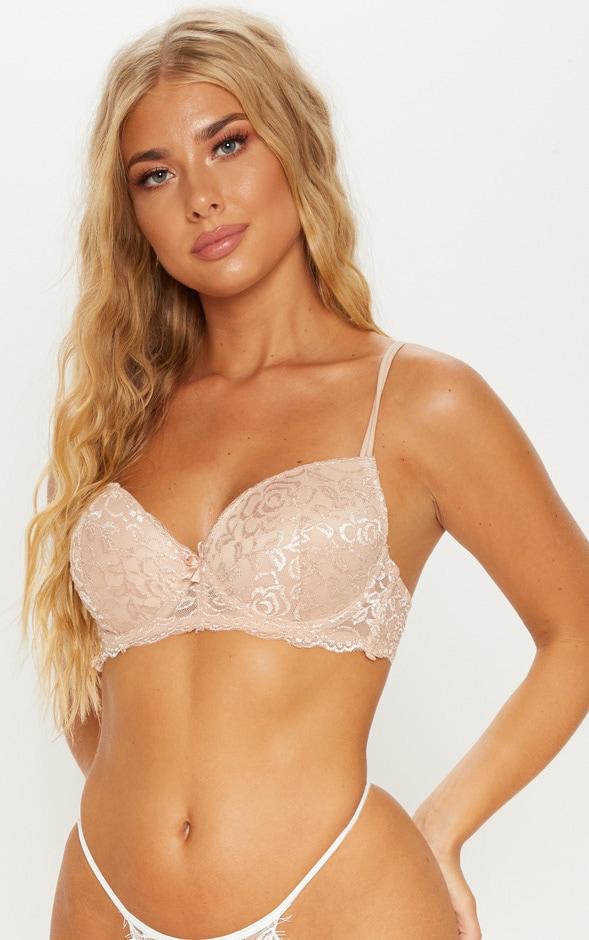 Nude Lace Push Up Bra 1