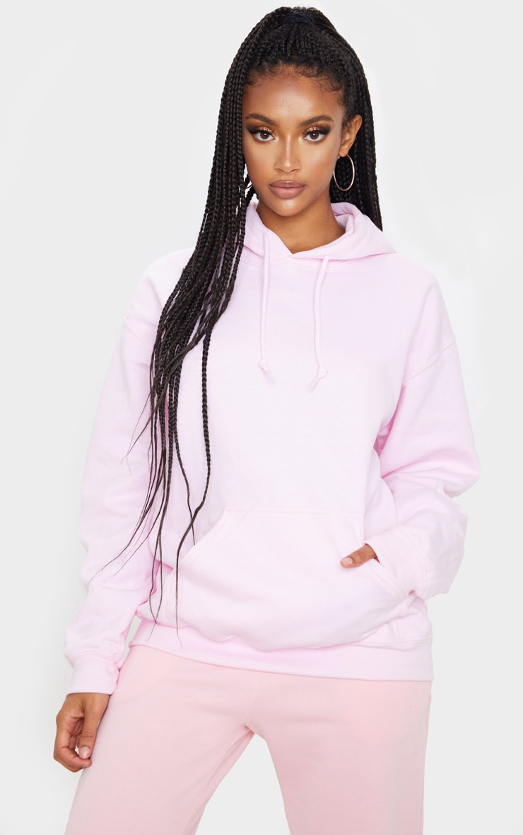 Baby Pink Ultimate Oversized Hoodie 1